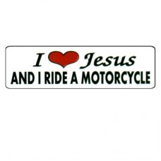 Christian Sticker-I LOVE JESUS AND I RIDE A MOTORCYCLE #302