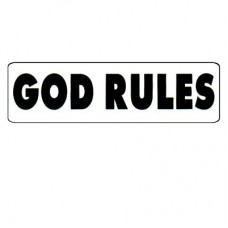 Christian Sticker-GOD RULES #0762