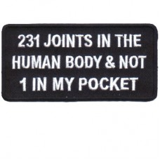 231 Joints in the Human Body none in my pocket