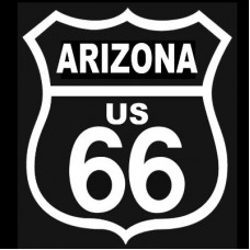 Route 66 Arizona White on Black patch