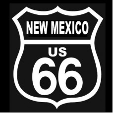 Route 66 New Mexico White on Black patch