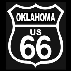 Route 66 Oklahoma White on Black patch