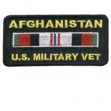 Afghanistan Veteran patch rectangle
