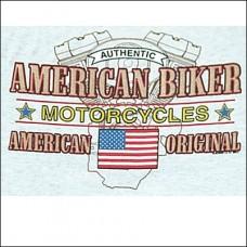 T Shirt-Long Sleeve-American Original Biker