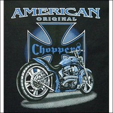 T Shirt-Long Sleeve-American Original Chopper Blue