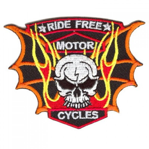 1.99. This Bat Wings Small-Motor Cycle embroidered patch is about 2.25 tall