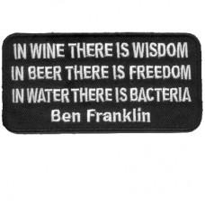 Ben Franklin In Wine Wisdom Beer Freedom