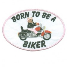 Back Patch- Born to Be a Biker Pink