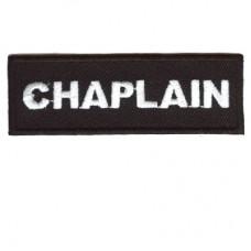 Blk Chaplain patch