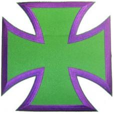 Bikers Cross Purple -Lg