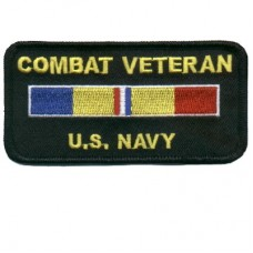 Combat Veteran Navy Patch