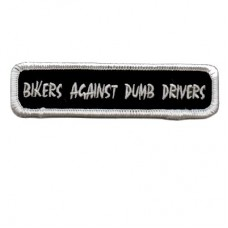 Bikers Against Dumb Drivers Patch Small