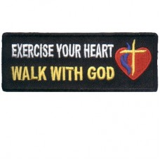 Exercise your heart Walk with God patch