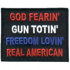 God Fearin Real American patch