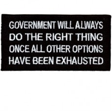 Government Always Does the Right thing patch
