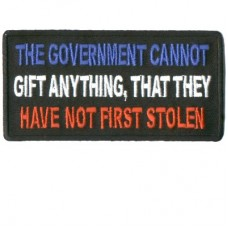 Government cannot gift without first stealing patch
