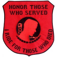 Honor Those-I Ride for those Who Died Blk on Red Lg patch