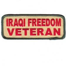 Iraqi Freedom Veteran Rect. Patch