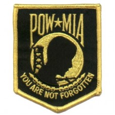 POW MIA yellow/gold patch