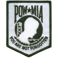 POW MIA White/Blk