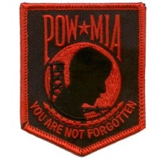 POW Red on Blk patch
