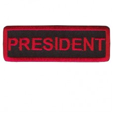Red President patch