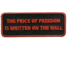 Price is written on the WALL Red patch