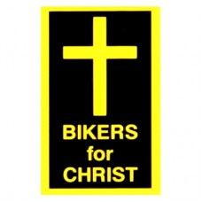 Christian Sticker-BIKERS FOR CHRIST (CROSS) #R33