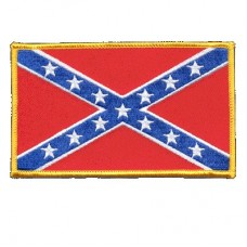Confederate Flag Patch Lg