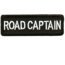 Blk Road Captain patch