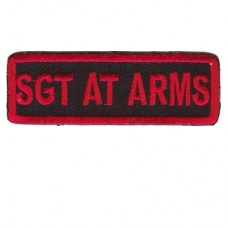 Red SGT at Arms patch