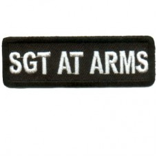 Blk SGT AT ARMS patch