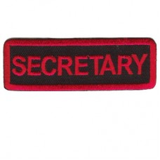 Red Secretary patch