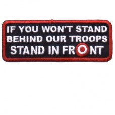 Patch-Stand Behind Troops or Stand in Front