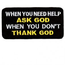 Ask God Thank God patch