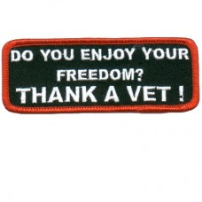 Enjoy Your Freedom Thank a Vet patch