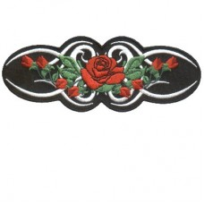 Small Tribal Red Rose Patch