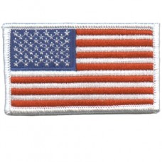 USA Flag White Patch Small