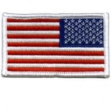 USA Flag White Patch Reverse