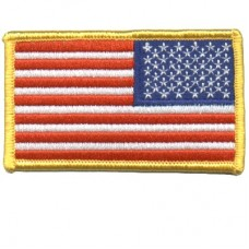 USA Flag Gold patch Reverse