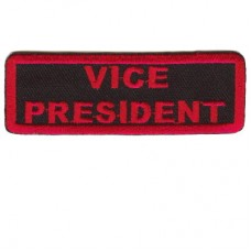 Red Vice President patch