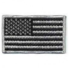 USA Flag Black and Silver